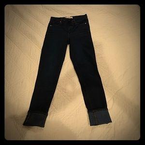 Gap 26r true skinny super high rise dark jeans